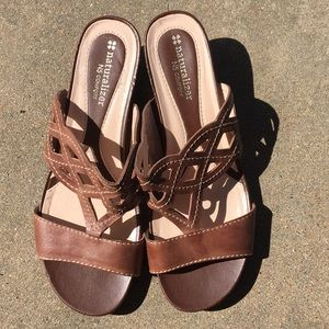 Naturalizer N5 Wedge Sandals Leather Women's Sz 8M